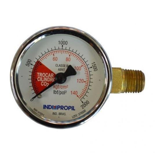 Manômetro 2000 LBF x 140 KGF 1/4 NPT