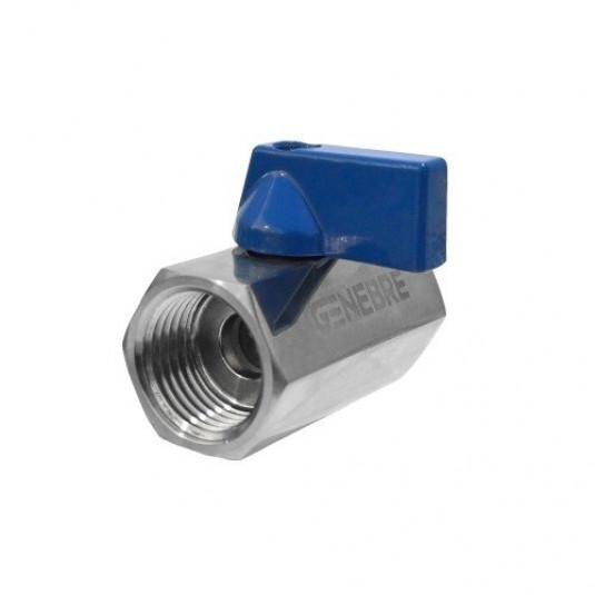 "Mini Válvula Inox - FxF 1/2"""