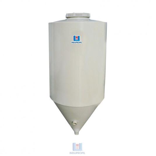Fermentador Cônico PP Bege - em material polipropileno e capacidade de 1.250 Litros