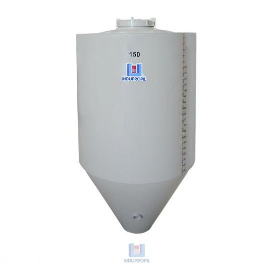 Fermentador Cônico PP na cor Bege - capacidade de 150 Litros Parede Dupla com Isolamento Térmico