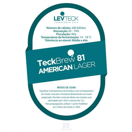 Pacote de Levedura Teckbrew 81 American Lager