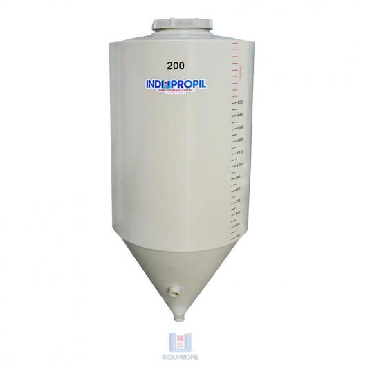 Fermentador Cônico PP Bege com capacidade de 200 Litros b- em Polipropileno