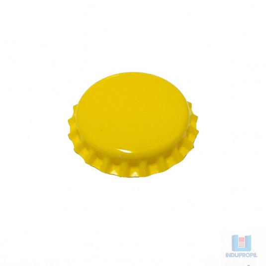 Tampa Cerveja Pry Off Amarela - 100 Unidades