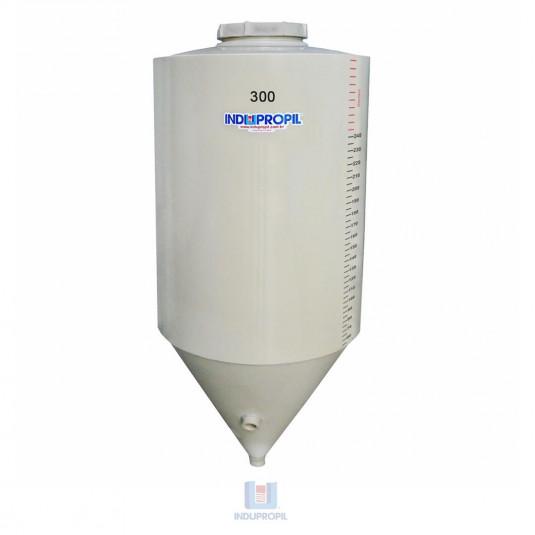Fermentador Cônico PP na cor Bege com capacidade de 300 Litros