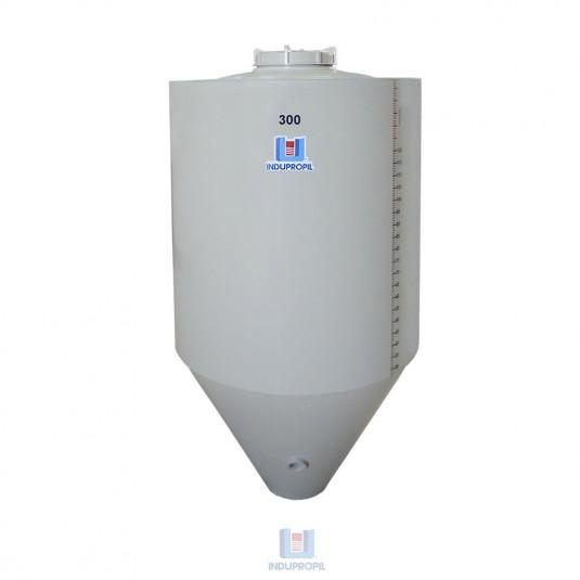 Fermentador Cônico PP na cor Bege - capacidade de 300 Litros Parede Dupla com Isolamento Térmico