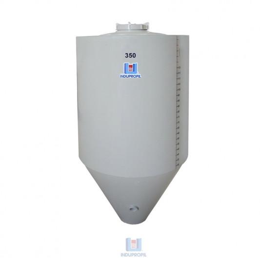 Fermentador Cônico PP na cor Bege - capacidade de 350 Litros Parede Dupla com Isolamento Térmico