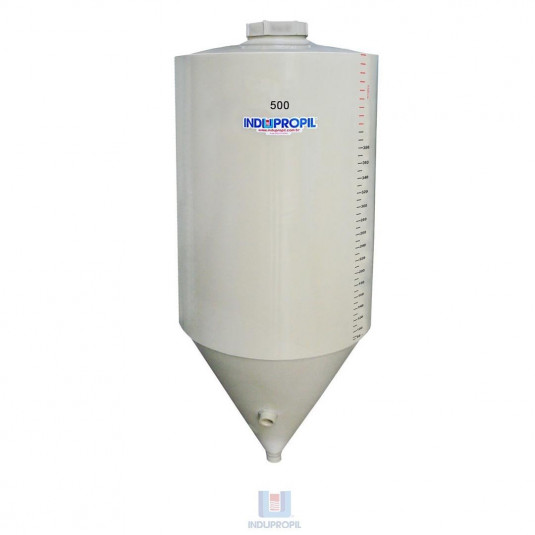 Fermentador Cônico PP Bege 500 Litros em Polipropileno
