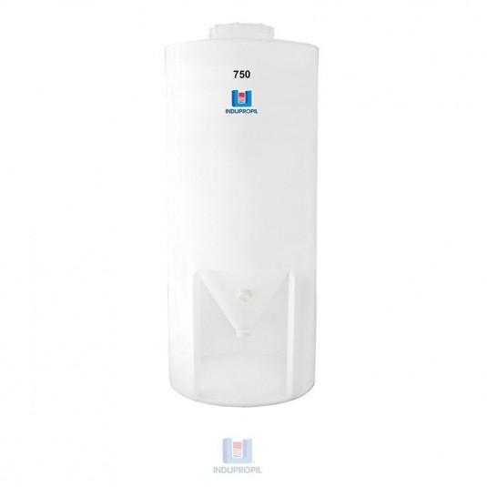 Fermentador Cônico PP Branco 750 Litros com Pé em material polipropileno