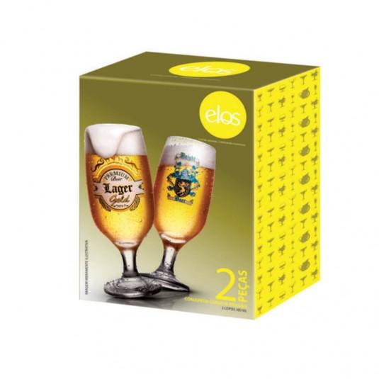Kit Copo Cerveja Brasão - 2 Peças