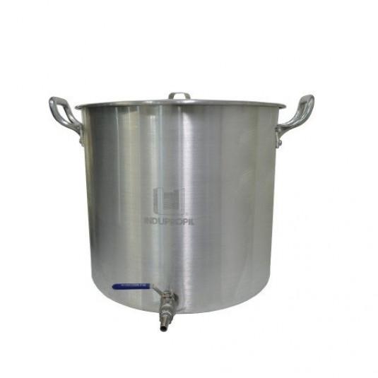 Caldeirão Cervejeiro Alumínio Reforçado n.38 com Válvula Inox - 38,5 lts