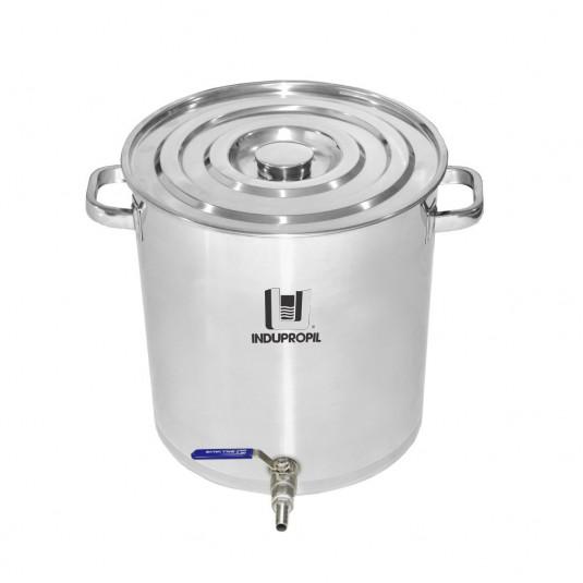 Caldeirão Cervejeiro Aço Inox n.55 com Válvula Inox - 125lts