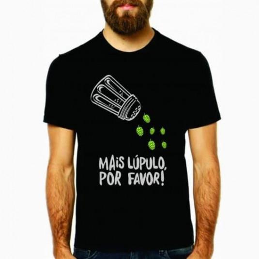 Camiseta Mais Lúpulo Por Favor - Preta M