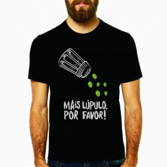 Camiseta Mais Lúpulo Por Favor - Preta G