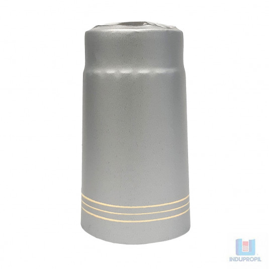 A cápsula para garrafa de vinho ou lacre térmoencolhivel para garrafas de vinhos cor prata
