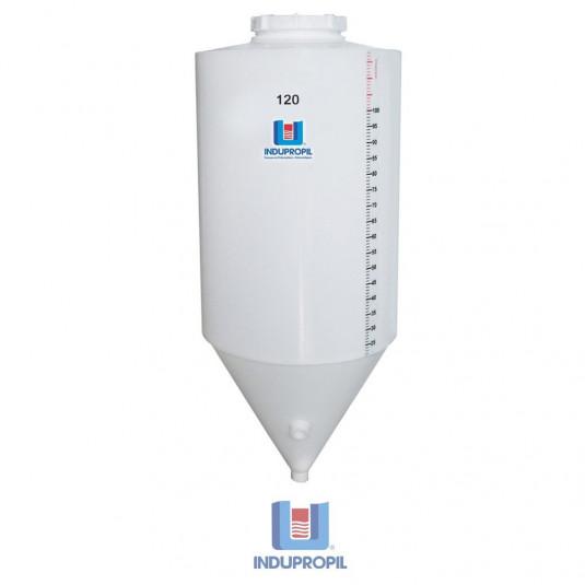 Fermentador Cônico PP Branco 120 Litros - Material Polipropileno