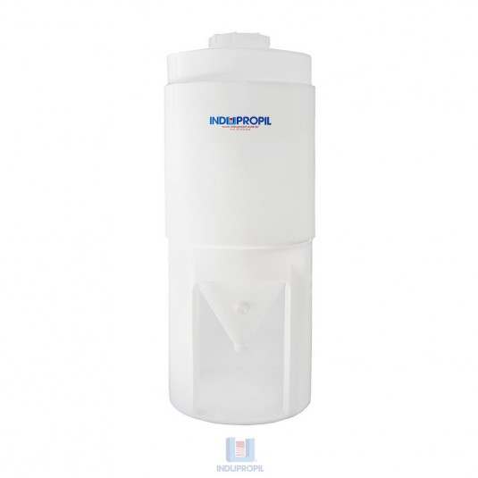 Fermentador Cônico PP com parede dupla – Branco -  capacidade de 500 Litros – com pé de apoio em material polipropileno