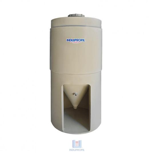 Fermentador Cônico PP com parede dupla – Bege -  capacidade de 500 Litros – com pé de apoio em material polipropileno