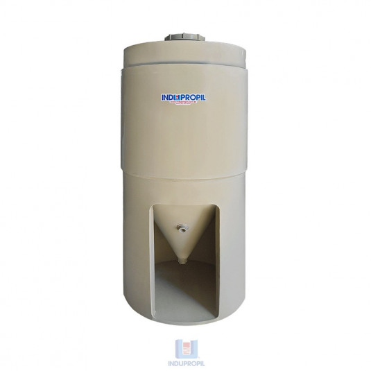 Fermentador Cônico PP com parede dupla – Bege -  capacidade de 750 Litros – com pé de apoio em material polipropileno