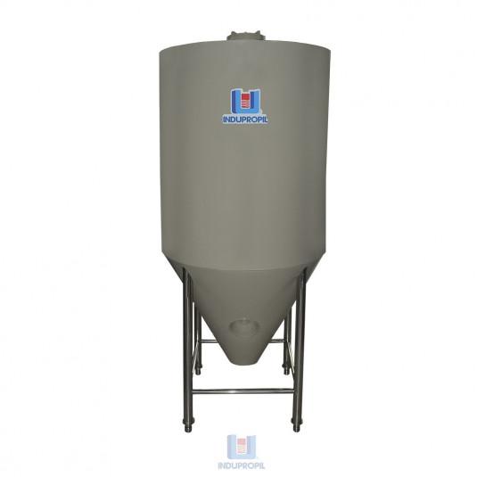 Fermentador Cônico PRO na cor Bege com capacidade de 1000 Litros - Isolamento Térmico