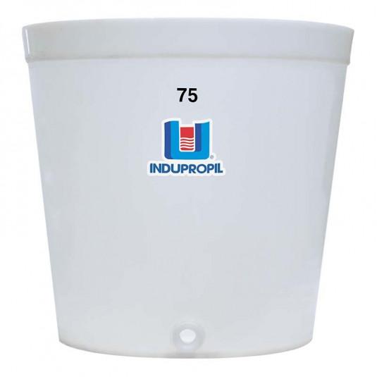 Fermentador de Uva PP Tronco Cônico Bege 75 Litros