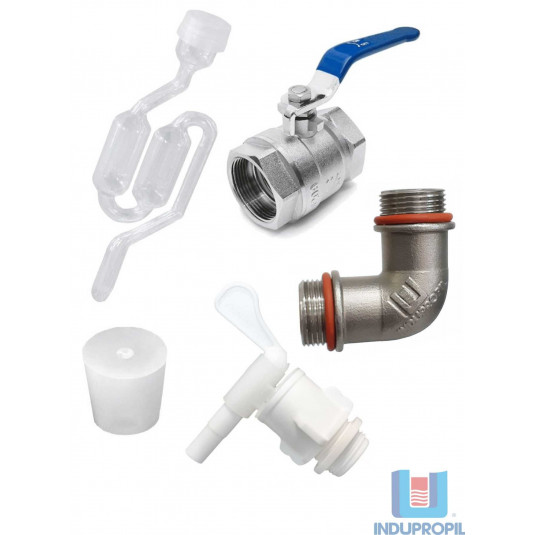 """Kit de Acessórios em Aço Inox para Fermentador Cônico - BSP 3/4"""""""