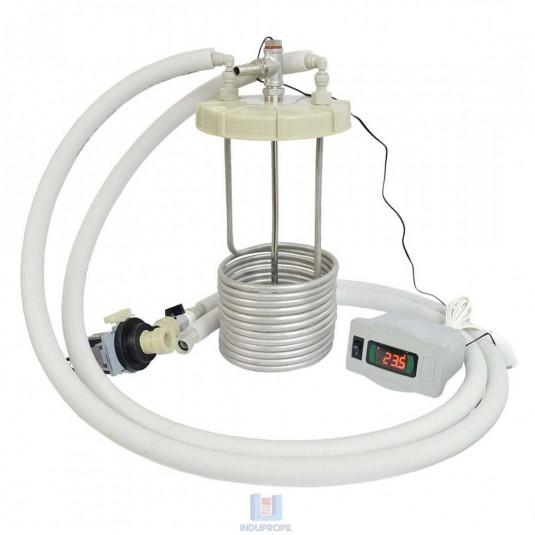 controle de temperatura liquido frio em serpentina