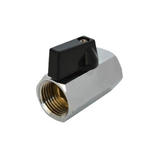 """Mini Válvula Metal - FxF 1/4"""""""