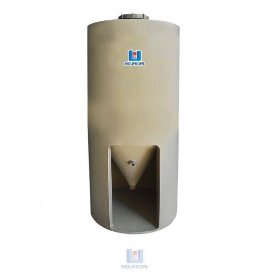 Fermentador Cônico PP Bege  com Pé em material polipropileno - capacidade de 1250 Litros
