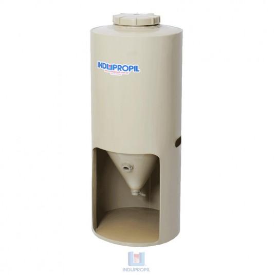 Fermentador Cônico PP Bege com capacidade de 350 Litros com Pé em Polipropileno