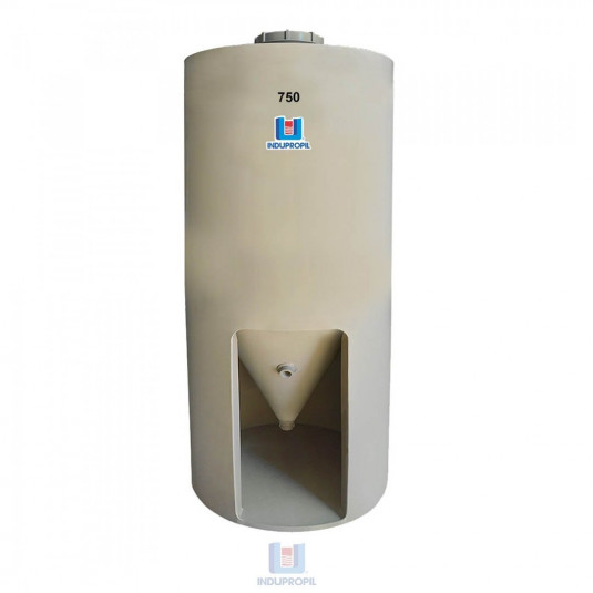 Fermentador Cônico PP Bege com capacidade de 750 Litros com Pé