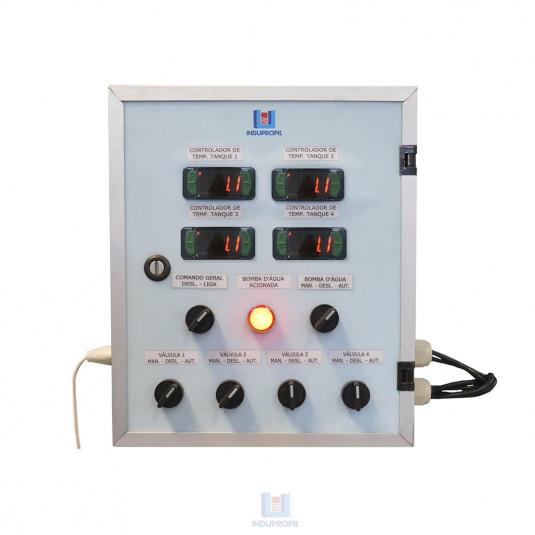 Quadro de Comando Sistema Glicol para até 4 Fermentadores - 220V