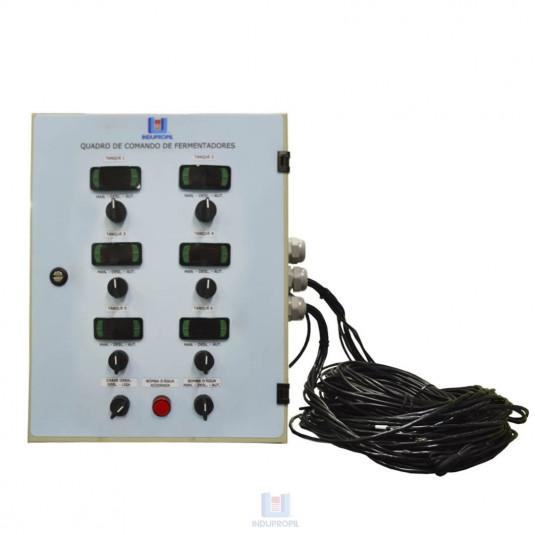 Quadro de Comando Sistema Glicol para até 6 Fermentadores - 110V
