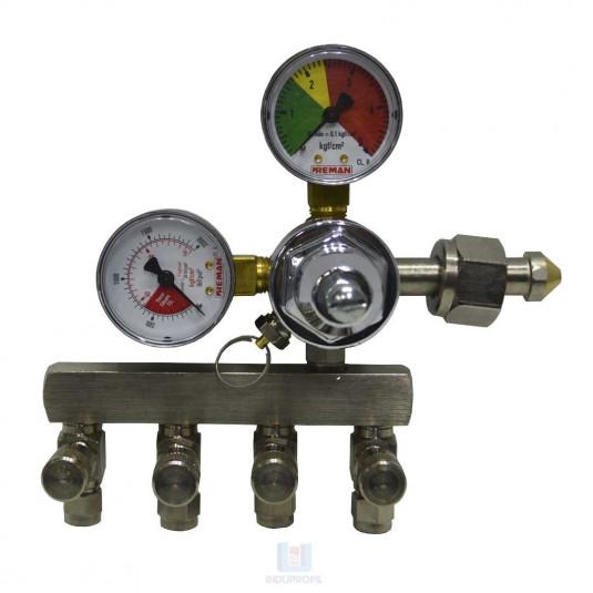 Regulador de Pressão - Chopp contendo 4 saídas