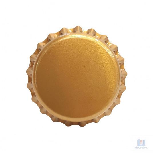 Tampa em metal para garrafas de Cerveja Pry Off Dourada