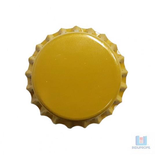 Tampa Cerveja Pry Off Dourada Fosca - 100 Unidades