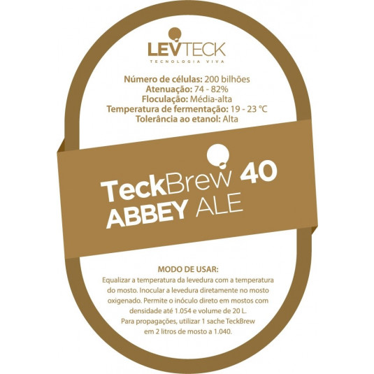 Levedura Teckbrew 40 Abbey Ale