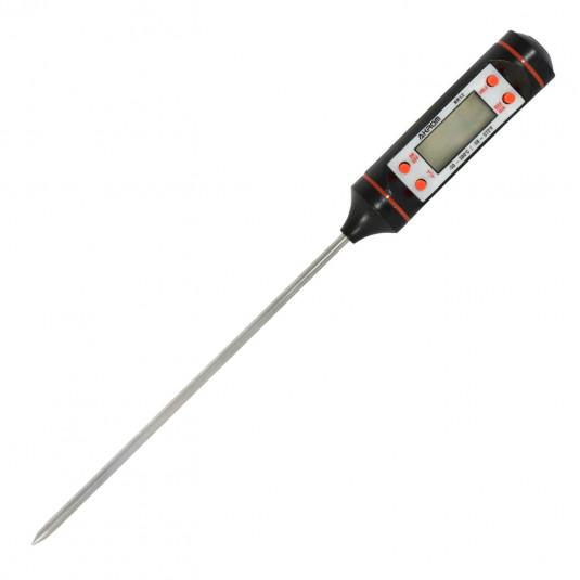 Termômetro Preto Tipo Espeto Digital -50+300ºC