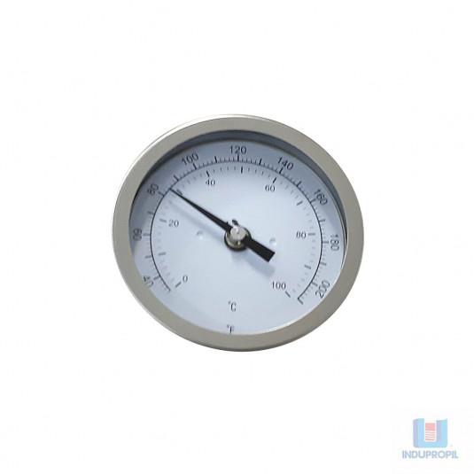 Termômetro Bimetálico 4x1/2 Inox 0-100°C - Haste 60mm