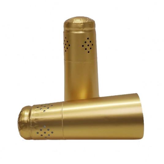 Cápsula Alupoli para Garrafa de Espumante Ouro (Dourada)- 34X120X50