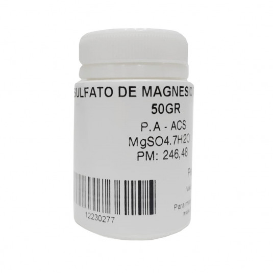 Sulfato De Magnésio 7H2O PA - 50gr