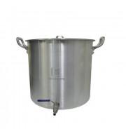 Caldeirão Cervejeiro Alumínio Reforçado n.45 com Válvula Inox - 68,3 lts
