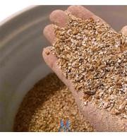 Amostra de grãos moído