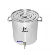 Caldeirão Cervejeiro Inox n.55 com Válvula Inox - 130lts