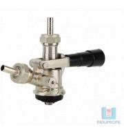 Válvula Extratora para Chopp Cromada com Espigões - Tipo S