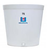 Fermentador de Uva PP Tronco Cônico Branco 75 Litros