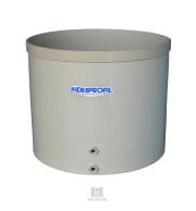 Fermentador de Uva PP Fundo Cônico Bege com capacidade de 1.500 Litros