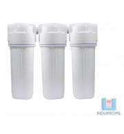 "Kit 3 Filtros para Água Tira Cloro - Branco 9"""