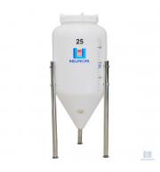 frente fermentador conico para cerveja 25 litros
