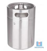 Barril Inox Keg 3,6  Litros - Sem tampa