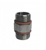 "Niple Inox 3/4"" com Orings"
